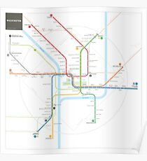 Washington Metro Map Poster