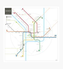 Washington Metro Map Photographic Print
