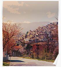 An italian landscape - The Village of Pretoro Poster
