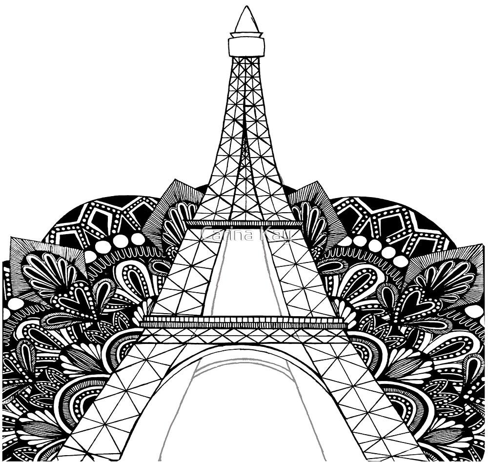 Eiffel Tower Mandala by Carina Kay