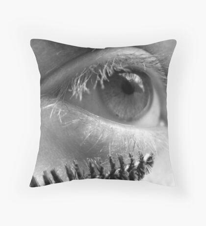 Mascara Throw Pillow