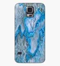 Blauer Geode-Kasten Hülle & Klebefolie für Samsung Galaxy