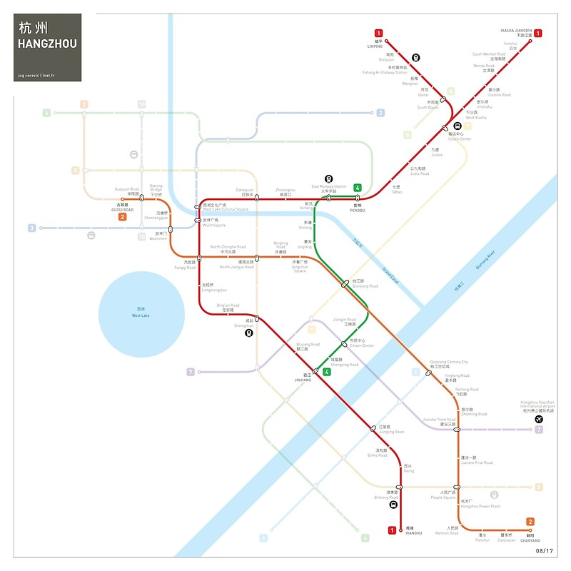 Hangzhou Metro Map Posters by Jug Cerovic Redbubble