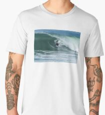 Bodyboarder in action Men's Premium T-Shirt