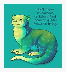 """Focus on Trying"" River Otter Photographic Print"