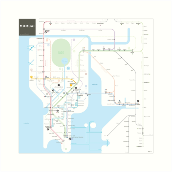 Mumbai metro map  by Jug Cerovic