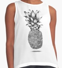 Pineapple line Drawing Contrast Tank