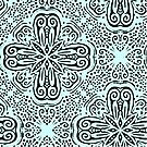 pale blue with black pattern by bywhacky