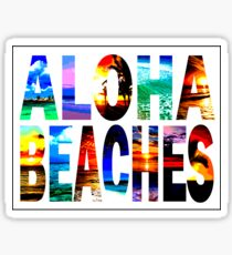 Aloha Beaches Typography  Sticker
