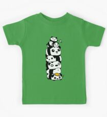 Panda Tower Kids Tee