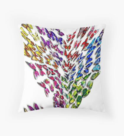 Butterfly Hearts  Throw Pillow