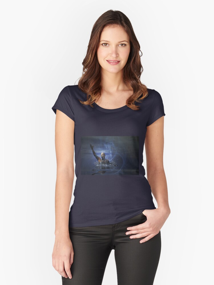 Rising from the Depths Women's Fitted Scoop T-Shirt Front