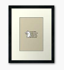 Arya Stark/Walder Frey Quote Framed Print