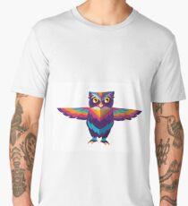 cool colorful cute owl Men's Premium T-Shirt
