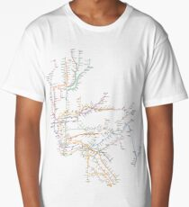 New York City Subway System Long T-Shirt