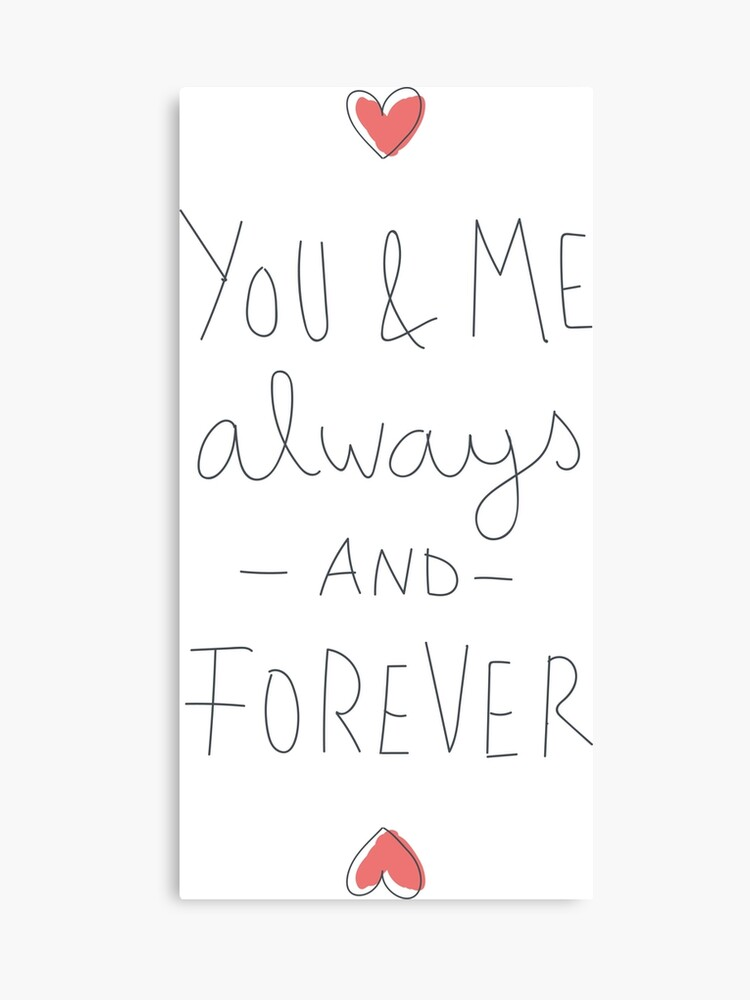 You Me Always And Forever Love Canvas Print By Nexustshirts