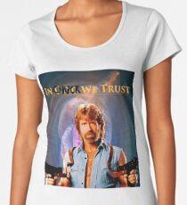 Chuck Norris Premium Scoop T-Shirt