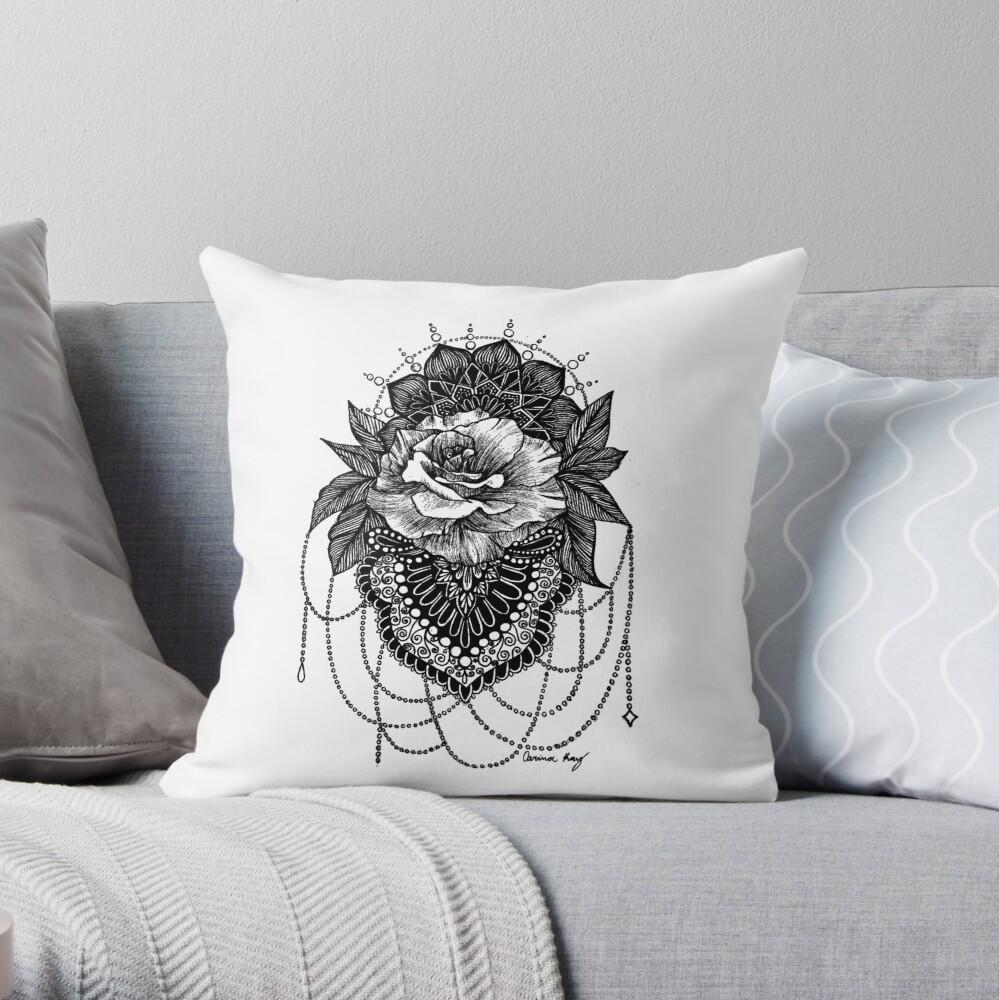 Rosen-Mandala Dekokissen