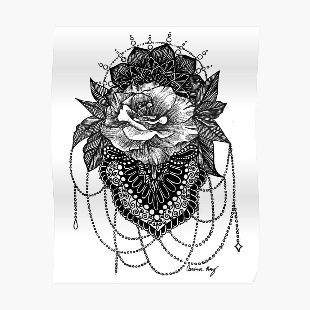 Rosen-Mandala Poster