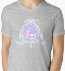 Pastel Terrarium T-Shirt mit V-Ausschnitt