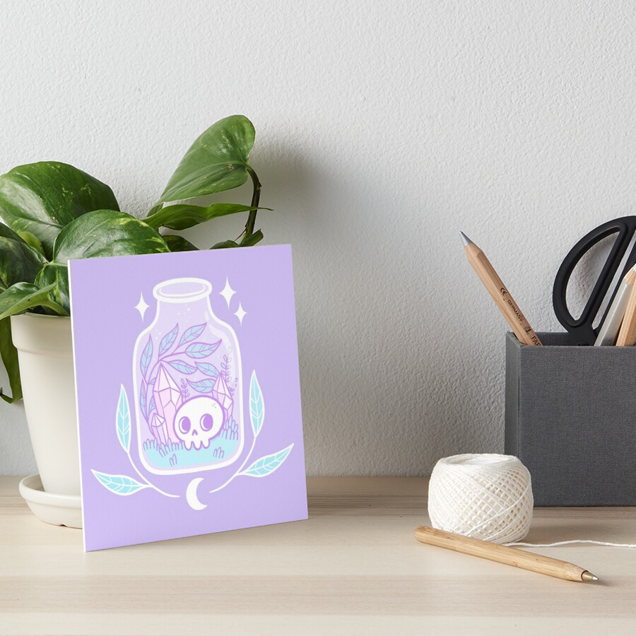 Pastel Terrarium Art Board Print
