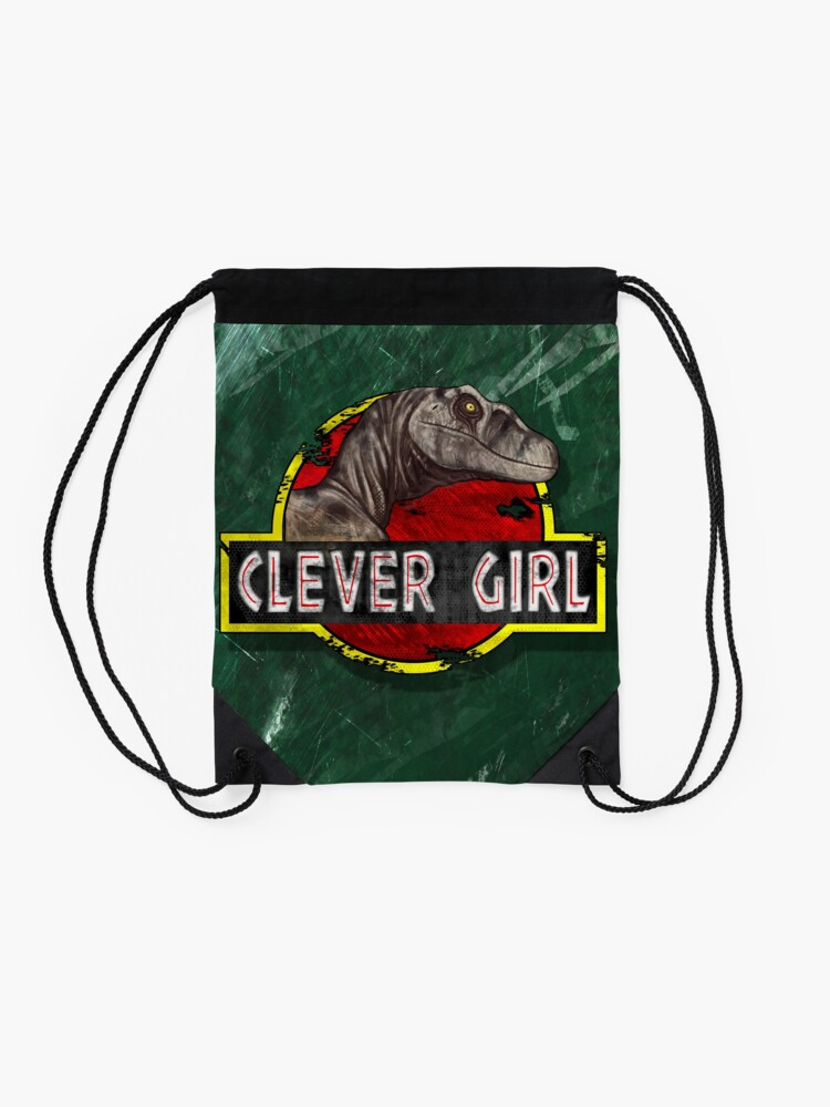 Alternate view of Clever Girl Drawstring Bag