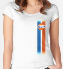 Gulf stripes Women's Fitted Scoop T-Shirt