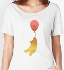 Bear and balloon Inspired Silhouette Women's Relaxed Fit T-Shirt