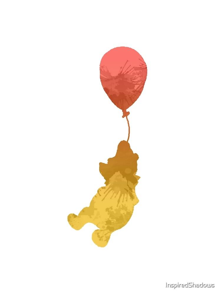 Bär und Ballon inspirierte Silhouette von InspiredShadows