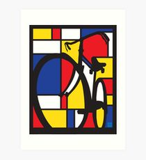 Mondrian Bicycle Art Print