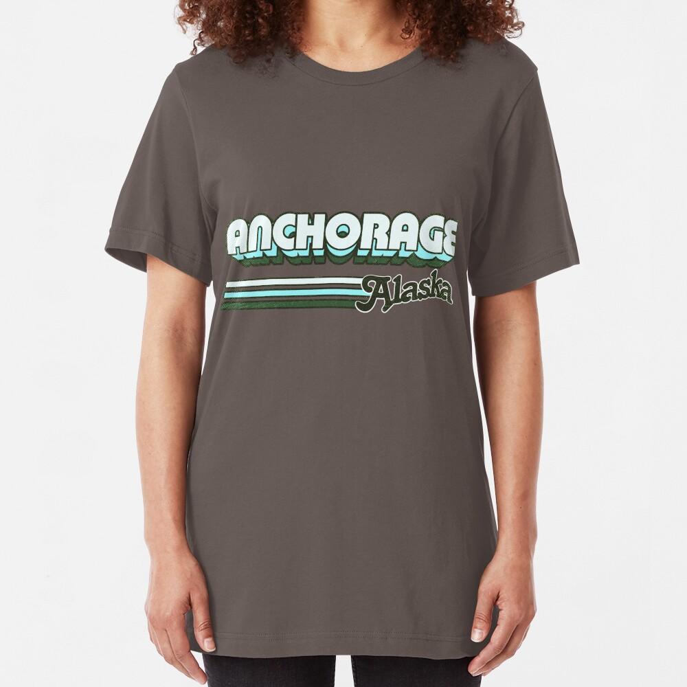 Anchorage, AL | City Stripes Slim Fit T-Shirt