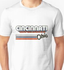 Cincinnati, OH   City Stripes Unisex T-Shirt