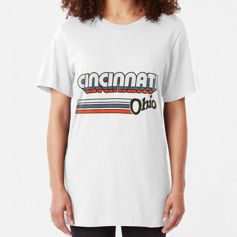 Cincinnati, OH | City Stripes Slim Fit T-Shirt
