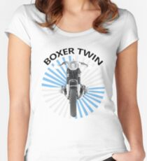 The Boxer Twin Women's Fitted Scoop T-Shirt