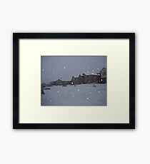 """ Snowstorm "" Framed Print"