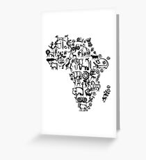 Abstract African Continent Greeting Card