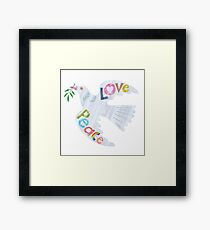 Love & Peace Dove Framed Print