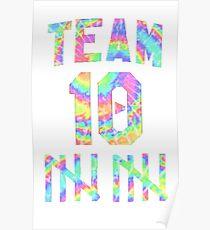 Jake Paul Tie Dye Team 10 (STICKER 2 PACK) Poster