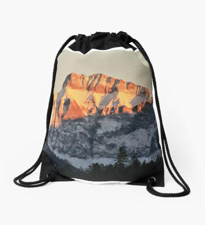 Golden Mountain Top Drawstring Bag