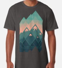 Geometrische Berge Longshirt