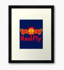 Red Fly Framed Print