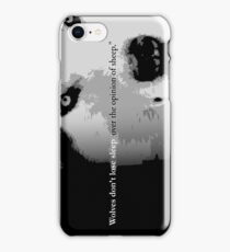 Wolves don't lose sleep over the opinion of sheep iPhone Case/Skin