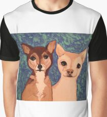 Two Chihuahua Friends Graphic T-Shirt