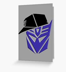 Decepticon G1 OG Transformer Greeting Card