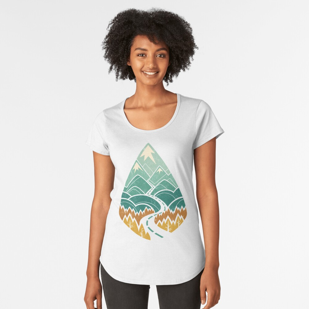 The Road Goes Ever On: Autumn Premium Scoop T-Shirt