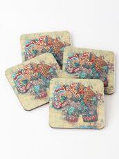 vintage elephant  Coasters