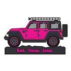 Magenta Jeep Wrangler by BluAnchor