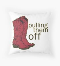 Red cowboy boots - HIMYM Throw Pillow