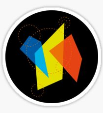 Color Shapes TwinB Sticker