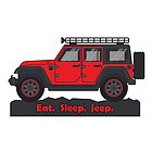 Red Jeep Wrangler by BluAnchor